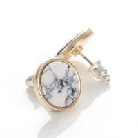 Wholesale Designer Gemstone Earrings - Turquoise Earrings Brand Fashion Jewelry Stud Earrings For Women Designer Gemstone Earrings 3 Styles Turquoise Jewelry