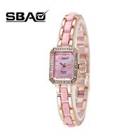Wholesale Sbao Watches - SBAO Factory Sale Women Simple Rectangular Dial Watch Lady Quartz Dress Watch Fashion Casual Girl Student Rhinestone Wristwatch