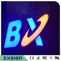Wholesale Make Outdoor Signs - Custom Outdoor advertising front lit Acrylic led sign making custom company logo