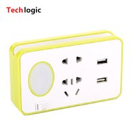 Wholesale Led Mobile Phone Accessories - Wholesale- Multi Function USB Charger with LED Light Laptop Teblet Phone Scanner Charger Mobile Support Computer Accessories Socket