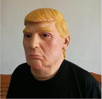 kostüm donald toptan satış-Donald Trump Ünlü Lateks Maske - Cumhuriyetçi Cadılar Bayramın Kostümü'nü Tamamla - Partilerin Cadılar Bayramı için En Uygun Her Şey Uygun