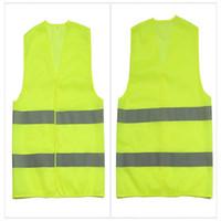 construction vest al por mayor-Alta visibilidad Seguridad en el trabajo Chaleco de construcción Advertencia Trabajo de tráfico reflectivo Chaleco Verde Ropa de seguridad reflectante
