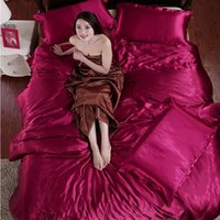 Wholesale Luxury Wine Set - New Luxury Bedding Sets Wine red And brown Quilt cover bed sheet Bedding Set Duvet Cover Sets Twin Queen King Size