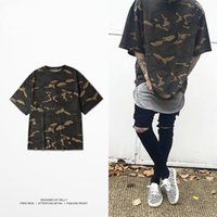 Wholesale military shirts women - Wholesale - military OVERSIZE bf tide brand seven points sleeve sleeves T-shirt camouflage special edition type short tee men and women