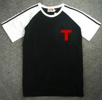 Wholesale crows foot - Maillot equipe de foot france Oliver Atom T-Shirts Kojiro Hyuga Sport Captain Tsubasa black france shirts ATTON Men T Shirts