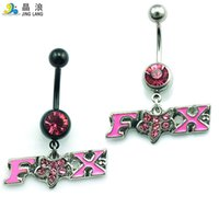 Wholesale Letters Belly Ring - Popular! DIY Brand New High Quality Fashion Metal 2 Color Pole Oil letter Belly Button Ring For Women Body Jewelry