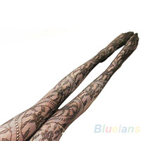 Wholesale Patterns Tights - Wholesale- Pattern Shaped Fishnet Lace Tights Pantyhose black 1N5R
