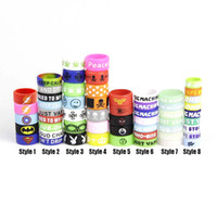 vape tank gummiband großhandel-Großhandel Gummi benutzerdefinierte für Vape Tank Band für Zerstäuber Vape Band Silikon mit 6 Arten Ring