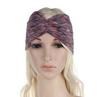 Wholesale Wide Bohemian Headband - 2017 New arrival Bohemian Style Women Headband Snowflake parti-colour Hair Bands Wide Head Wrap Hair Accessories