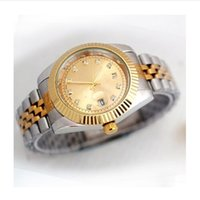 Wholesale product movement - New luxury watch fashion brand product in men and women date of new steel clock male quartz watches automatic movement