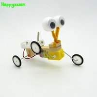 Wholesale white robot toy - Happyxuan Diy Electric Model Reptile Assembling Robot Technology Invention Scientific Experiment Material Toys