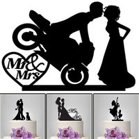 Wholesale Wedding Groom Wholesaler - The Kissing Bride and Groom Cake Topper Acrylic Mr & Mrs Cat Cake Topper Non-personalized Acrylic Wedding   Anniversary   Bridal Shower