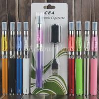 Wholesale ce4 blister kit vape resale online - eGo ce4 vape pen starter kit ego t battery ce4 electronic cigarette blister mah e cig pens OEM shenzhen factory A