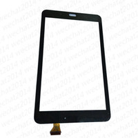Wholesale galaxy tape - 50PCS Touch Screen Digitizer Glass Lens with Tape for Samsung Galaxy Tab E 8.0 T377 free DHL