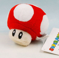 Wholesale Mario Minis - Wholesale-Anime Super Mario Mini Mushroom 6cm Soft Plush Toy Red