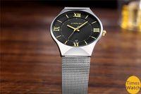 thin steel Australia - CRRJU Men's Watches New luxury brand watch men Fashion sports quartz-watch stainless steel mesh strap ultra thin dial date clock