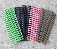 Wholesale Rubber Ladder - 7 Inch Picatinny Ladder Rail Rubber Covers Black Bron Green Pink (Pack of 4) Free Shipping