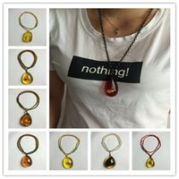 Wholesale Wholesale Insect Amber - New Arrival Baby Safe Necklaces of Silicone amber insects Teething Jewels Necklaces with Waterdrop Pendant educational toy CB130