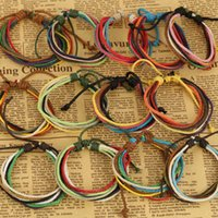 Mixed Color Handmade Hot Sale Designer Femme et Hommes Enfants Couches multiples Bracelets à cordes Simple OL Style Brand Rope Bracelets Wholesale