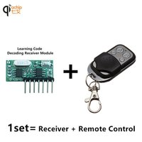 Wholesale Receiver Learning Code - Wholesale-433 Mhz Remote Control and 433Mhz Wireless Receiver Learning Code 1527 Decoding Module 4Ch output With Learning Button