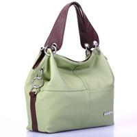 offrir des sacs à main achat en gros de-Gros-2016 femmes polyvalent sac à main souple offre PU sacs en cuir sac à bandoulière / épissure greffe Vintage épaule Crossbody sacs