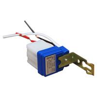 Wholesale Light Switch Photo Control Sensor - Wholesale-Automatic Sensor Switch Auto On Off Street Light Switch DC AC 220V 50-60Hz 10A Photo Control Photoswitch Touch