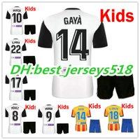 Wholesale Cf Shirt - best quality 17 18 valencia kids Soccer Jersey kits 2017 2018 valencia cf Home NANI PAREJO MUNIR GAYA C.Soler Children Football Shirt