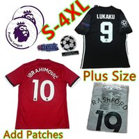 Wholesale Plus Size Wine - S-4XL Plus size Big XXL XXXL XXXXL 2XL 3XL IBRAHIMOVIC 2017 2018 Man 17 18 utD Soccer Jerseys UnIted LUKAKU football shirts POGBA