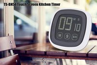 Wholesale Kitchen Cooking Alarm Clock - Hot Selling LCD Digital Plastic Touch Screen Kitchen Timer Countdown Count UP Buzzer Alarm Clock Kitchen Gadgets Cooking Tools +B