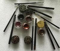 Wholesale Color Eyeliner Gel - 1PCS Kylie 1 set = eyeliner + brush + cream cosmetics gel eyeliner Pen Eyebrow kylie Jenner kit bronze chameleon Kyliner Black Brown makeup