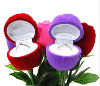 Bom Bonito e romântico Red Rose Jóias Caixa de Casamento Gift Gift Earrings Storage Display Holder