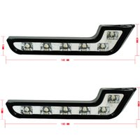 DIY Auto vehicleWhite heller 6 LED-Auto-Fahrlicht-Nebel DRL Tagespositionslampen 12v 2pcs / lot