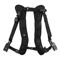 Wholesale Slr Sling - vintage camera shoulder strap for SLR DSLR Nikon Canon Sony Panasonic quick straps black double shoulder straps fast photography sling