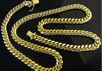 "Wholesale Red Gram - 14K Miami Cuban Link Chain Solid Gold, 26"" 6.9 MM 94.5 Grams Heavy Necklace Men"