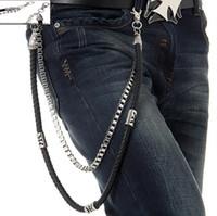 Wholesale Wholesale Jean Chains - Wholesale- Punk Pant Chains Fashion Rock Waist Accessories High Quality Men's Hip-hop Street Chains Punk Alloy Plating Jean Pant Chains