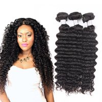 Wholesale Brazilian Virgin Fast Shipping - Fast and Free Shipping Unprocessed Human Hair Weaves Brazilian Deep Wave 3pcs Lot Full Head Virgin Hair UGlam Hair