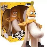 Wholesale Headplay Evil Bad Banana Man - Free Shipping Headplay Evil Bad Banana Man Funny Devil Style Large 30cm Novelty Adults Figure Toys Fashion Items MVFG033