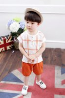 Wholesale Baby Vests Suits - Customized clothing baby summer boy suit Babies and infants clothing summer children aged 0-1-2-3-4 vest suits