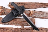 New Arrival Survival Straight Knife 7Cr17 Titanium Tanto Point Blade G10 Handle Outdoor Camping Randonnée Couteaux à lame fixe