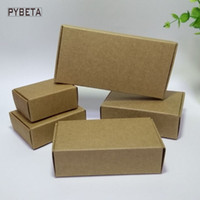 Wholesale Handmade Packaging For Candy - 50pcs- (80-133mm) Blank kraft paper packaging box for handmade soap candies jewelry accessories gift boxes