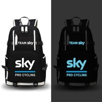 Wholesale Large Military Style Backpacks - High Quality Team Sky Pro Cycle Luminous Printing Backpack Military Backpack Large Capacity Travel Bags Canvas School Bags