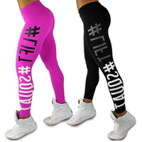 "Wholesale Women Slim Lift Pants - Women Sport Sex Yoga Pants "" LIFT & SQUAT "" Print Capris Elastic Tight fitting Leggings Slim Fitness Pencil Fashion Trousers PWDK11 WR"