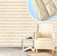 Wholesale Modern Art Interior - skin-friendly 3D decorative interior XPE wall panel faux brick wall panel
