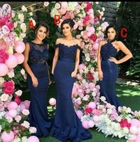 Wholesale Girls Dresses C - Sheath Style Beautiful Dress For Wedding Girls Wear Included A Jewel Neck Sleeveless B Off Shoulder Neck Lace Wear C Halter Neck Sexy