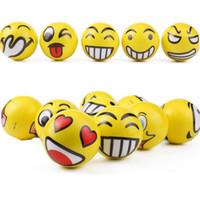 Wholesale Sponge Toys - Wholesale - New face smile face PU ball 10cm solid smile face pressure ball children's decompression Toy sponge ball GC10