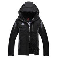 Wholesale Snowboards Jacket Men - Wholesale- Black Ski Jacket Men Outdoor Waterproof Mountain Skiing Jackets Thermal Thicken -30 deegree Snow Snowboard Jackets Plus Size XXL