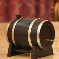 Vente en gros - Wine Barrel Plastic Automatic Toothpick Box Toothpick Container Toothpick Dispenser YL872403
