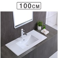 Wholesale Single Sink Cabinet - Hot sell 2017 simple bathroom semi-embedded stage basin ceramic super - thin gargle table basin cabinet direct sale