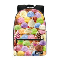 Wholesale China Bags Manufacturer - Wholesale- 2016 ONE2 Design ice cream pattern printing manufacturers china backpack nylon school bag and cheap backpack for teenage girls