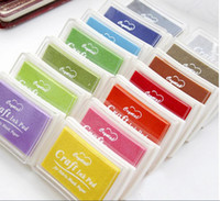 Wholesale Big Stamp Pad - DHL Free Shipping 200pcs New Nice color big craft Ink pad  Stamp inkpad set for DIY funny work